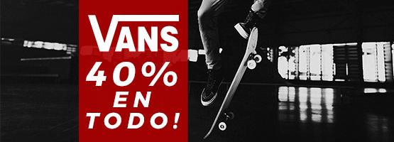 Banner 40% dto VANS